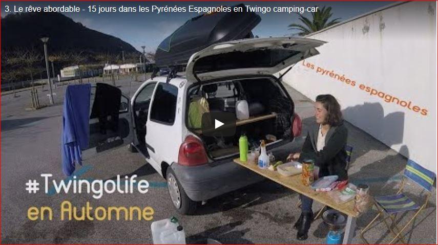 Voyage en Twingo camping car dans les Pyrénées espagnoles